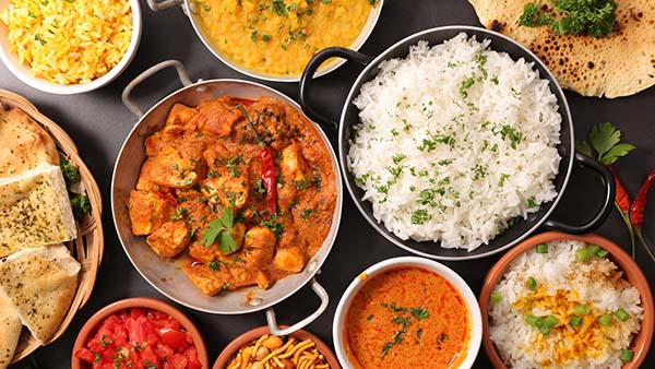 A detail on Indian food